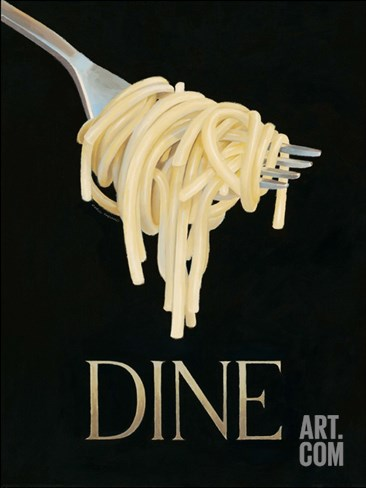 Gourmet Pasta Stretched Canvas Print