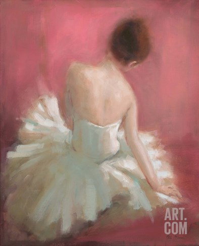 Ballerina Dreaming 1 Stretched Canvas Print