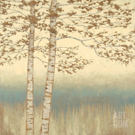 Birch Silhouette 1 Stretched Canvas Print