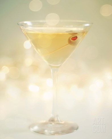 Olive Cocktail Stretched Canvas Print