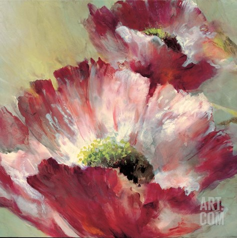 Lush Poppy Stretched Canvas Print