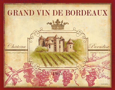 Grand Vin De Bordeaux Stretched Canvas Print