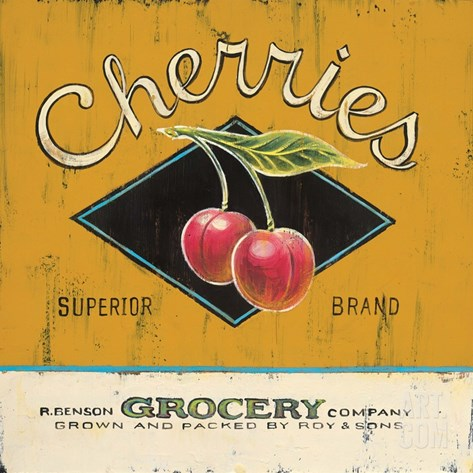 Superior Cherries Stretched Canvas Print