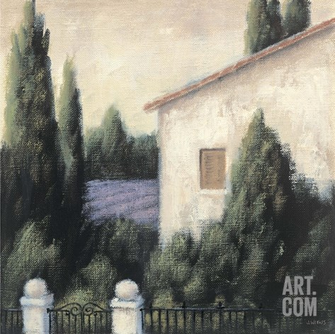 Lavender Villa Detail Stretched Canvas Print