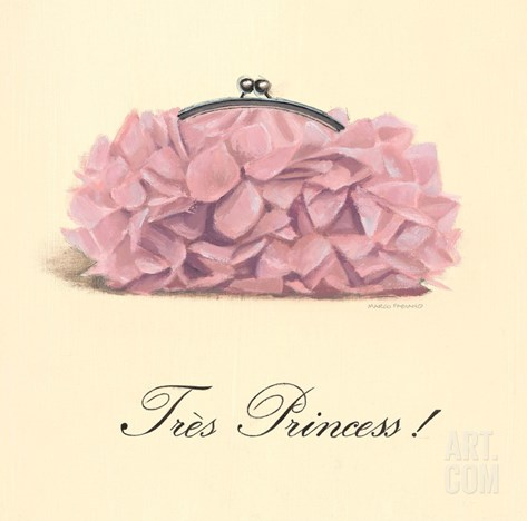 Très Princess Stretched Canvas Print