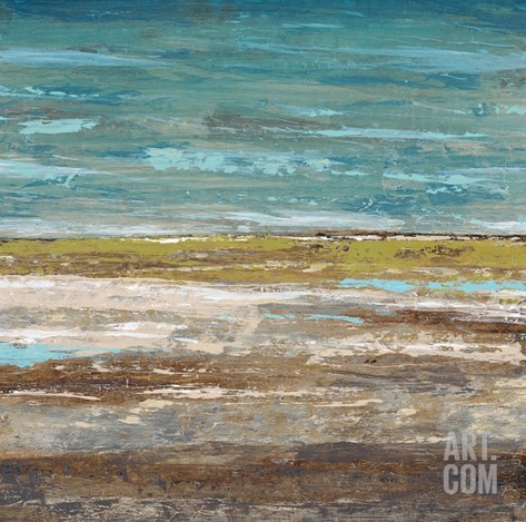 Abstract Sea 2 Stretched Canvas Print