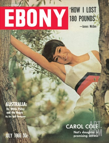 Ebony July 1966 Stretched Canvas Print