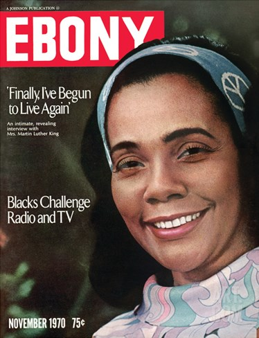 Ebony November 1970 Stretched Canvas Print