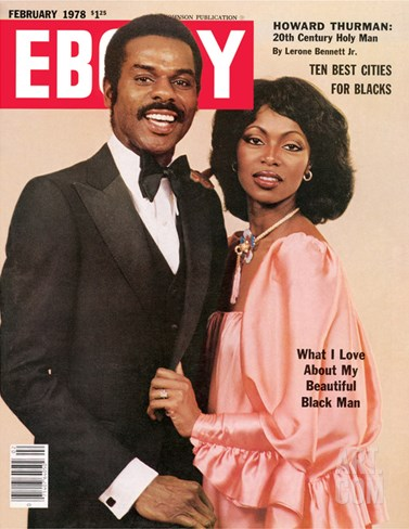 Ebony February 1978 Stretched Canvas Print
