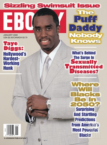 Ebony January 2000 Stretched Canvas Print