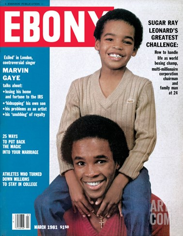 Ebony March 1981 Stretched Canvas Print