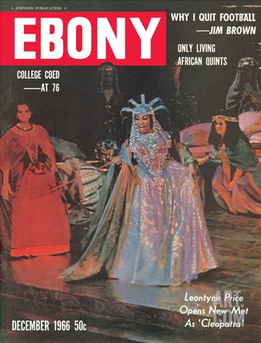 Ebony December 1966 Stretched Canvas Print