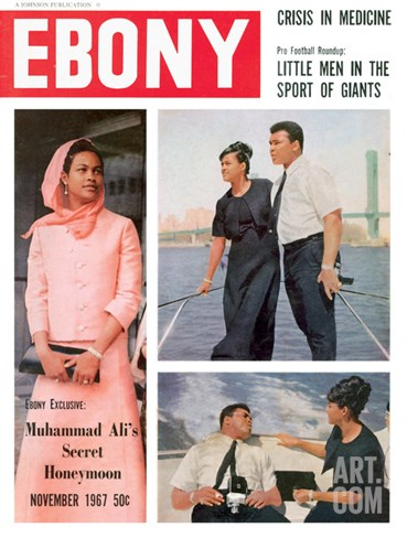 Ebony November 1967 Stretched Canvas Print