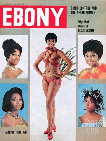 Ebony March 1968 Stretched Canvas Print