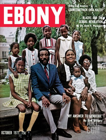 Ebony October 1971 Stretched Canvas Print