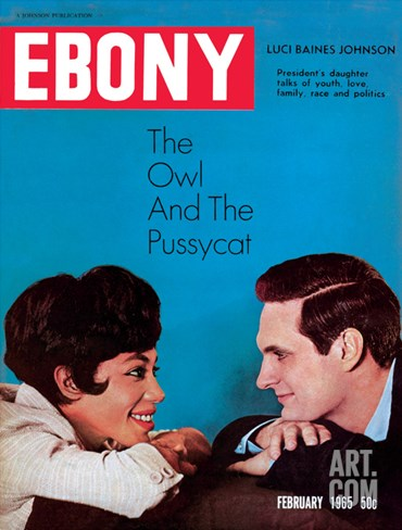 Ebony February 1965 Stretched Canvas Print