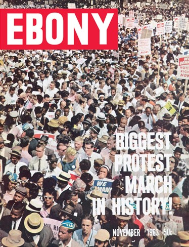 Ebony November 1963 Stretched Canvas Print