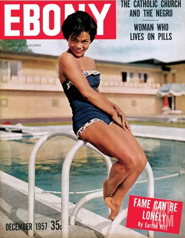Ebony December 1957 Stretched Canvas Print