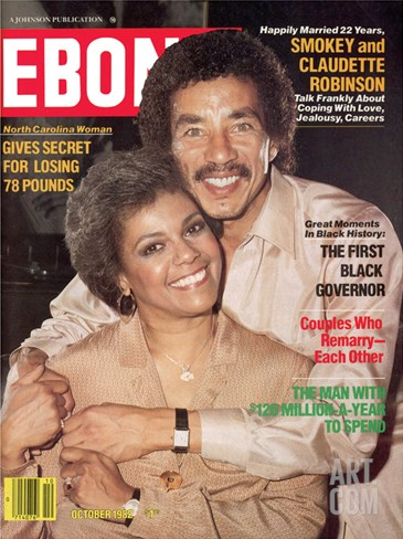 Ebony October 1982 Stretched Canvas Print