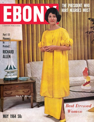 Ebony May 1964 Stretched Canvas Print