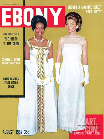Ebony August 1962 Stretched Canvas Print