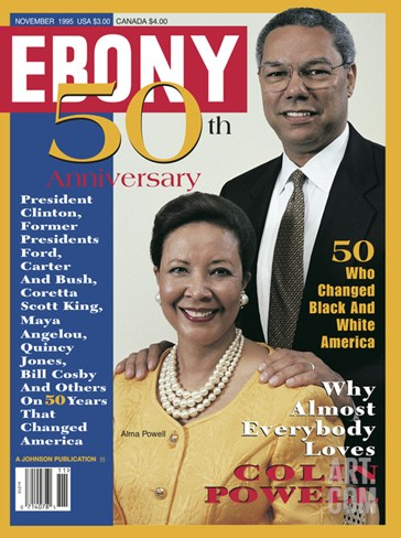 Ebony November 1995 Stretched Canvas Print