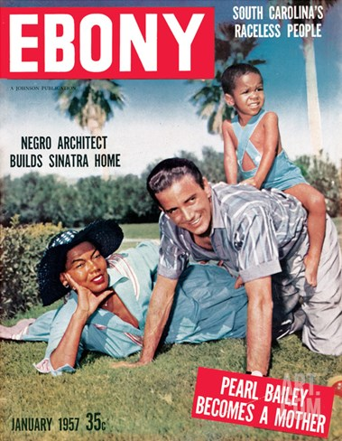 Ebony January 1957 Stretched Canvas Print