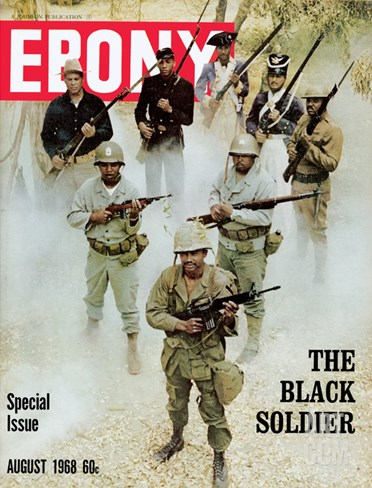 Ebony August 1968 Stretched Canvas Print