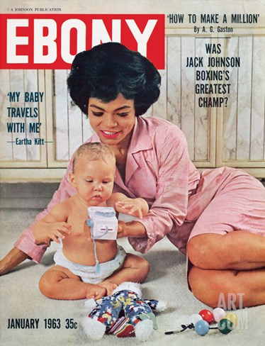 Ebony January 1963 Stretched Canvas Print