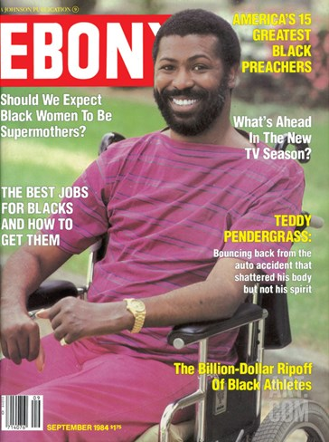 Ebony September 1984 Stretched Canvas Print