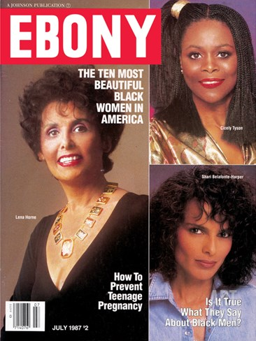 Ebony July 1987 Stretched Canvas Print