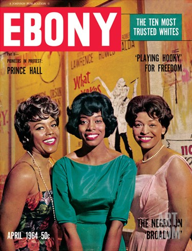 Ebony April 1964 Stretched Canvas Print