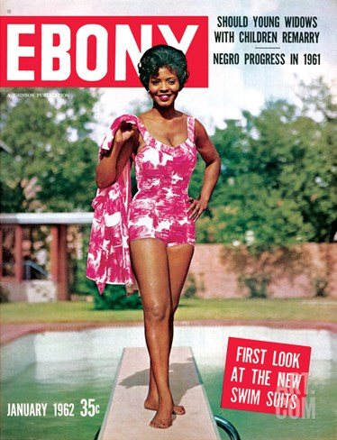 Ebony January 1962 Stretched Canvas Print
