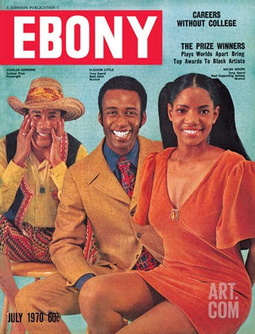 Ebony July 1970 Stretched Canvas Print
