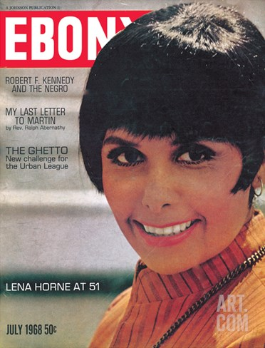 Ebony July 1968 Stretched Canvas Print