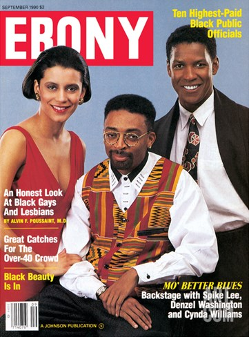 Ebony September 1990 Stretched Canvas Print