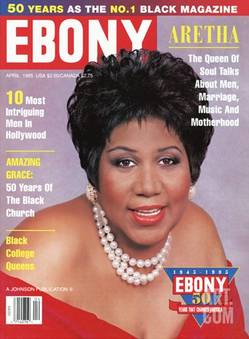 Ebony April 1995 Stretched Canvas Print