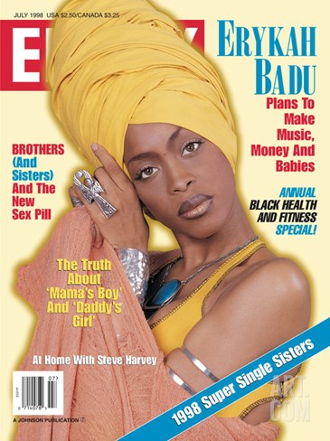 Ebony July 1998 Stretched Canvas Print