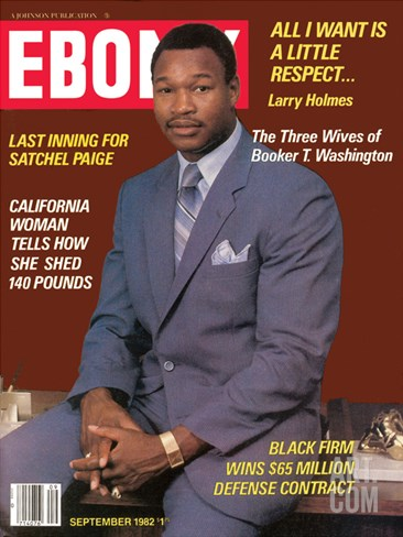 Ebony September 1982 Stretched Canvas Print