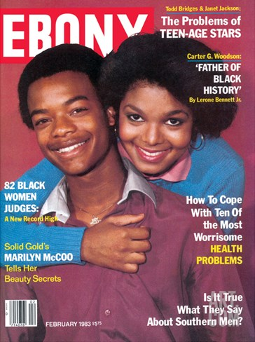 Ebony February 1983 Stretched Canvas Print