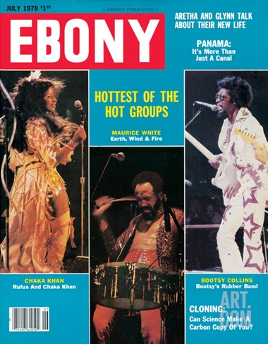 Ebony July 1978 Stretched Canvas Print