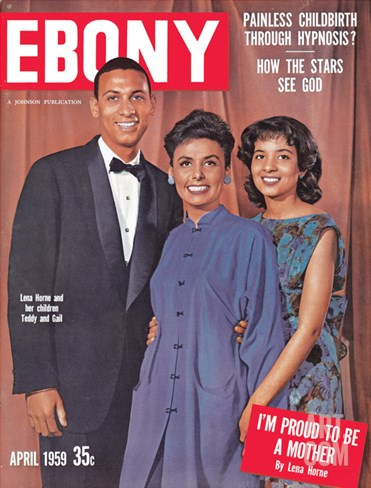 Ebony April 1959 Stretched Canvas Print