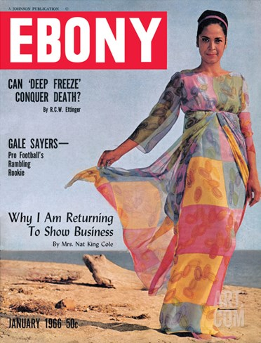 Ebony January 1966 Stretched Canvas Print