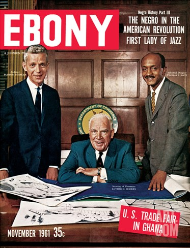 Ebony November 1961 Stretched Canvas Print