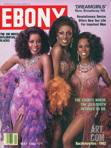 Ebony May 1982 Stretched Canvas Print