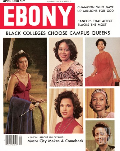 Ebony April 1978 Stretched Canvas Print