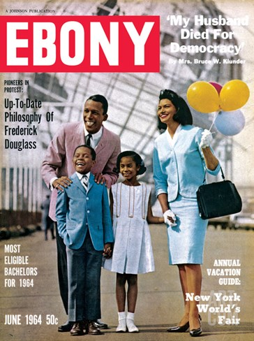 Ebony June 1964 Stretched Canvas Print