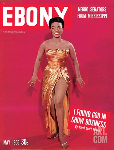 Ebony May 1956 Stretched Canvas Print