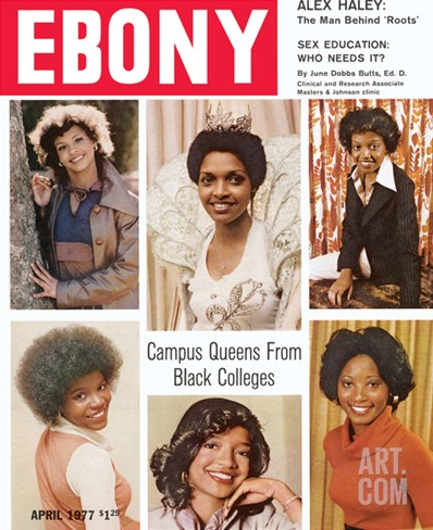 Ebony April 1977 Stretched Canvas Print