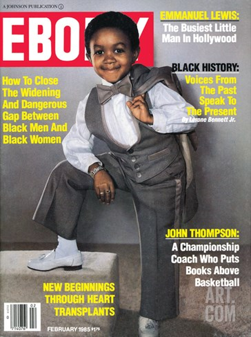 Ebony February 1985 Stretched Canvas Print